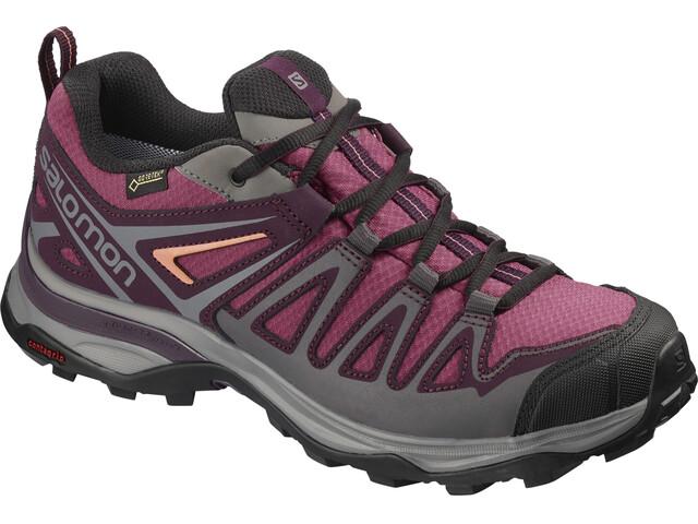 Salomon X Ultra 3 Prime GTX Shoes Women malaga/potent purple/desert flower